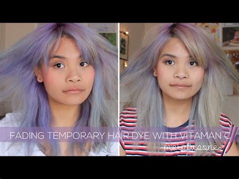 does permanent hair color fade how to fade temporary hair dye with vitamin c tablets