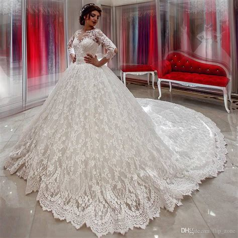 Plus Size Lace Wedding Dresses With Cathedral by Vintage Sleeve Wedding Dresses Lace Gown