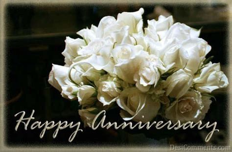 Happy Anniversary With Flowers   DesiComments.com
