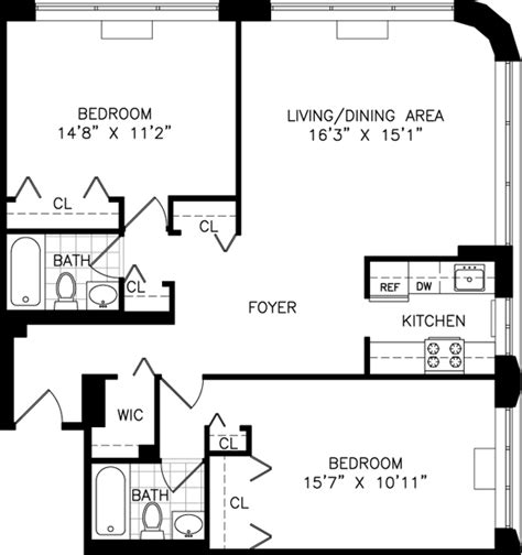 new york apartment floor plan studio one and two bedroom apartment floor plans for