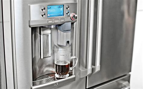 Brew a Cup of Coffee with GE?s Built In Keurig Refrigerator   Appliance Video