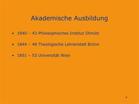 Lebenslauf Akademische Ausbildung Ppt Lebenslauf Des Begr 252 Nders Der Klassischen Genetik Johann Gregor Mendel Powerpoint