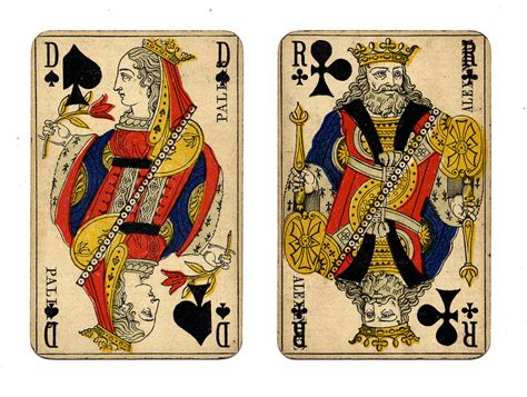 vintage french playing cards unsure of age but 20th