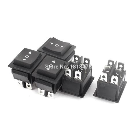 Saklar On Kcd 16a 250v Ac 5pcs 16a 250v 20a 125v ac 6 pin dpdt 3position momentary rocker switch in switches from home