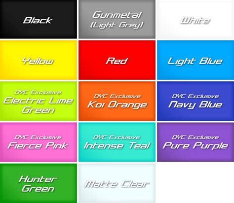 colores plasti dip plasti dip color chart plastidip painting made and