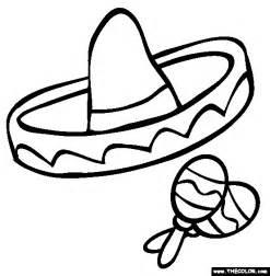 maraca coloring page sombrero and maracas coloring page
