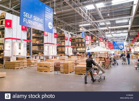 ikea stock warehouse area of ikea furniture store england uk stock