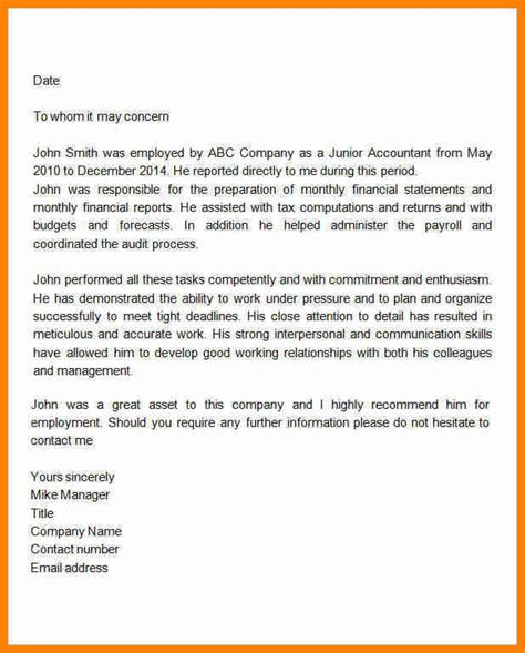 Letter Of Recommendation Office Manager 7 letter of recommendation for employee from manager
