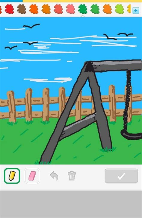 swing set drawing swingset drawings how to draw swingset in draw something