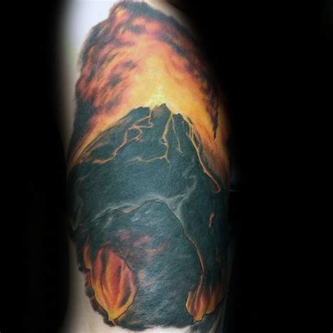 volcano tattoo 50 volcano designs for erupting lava ink