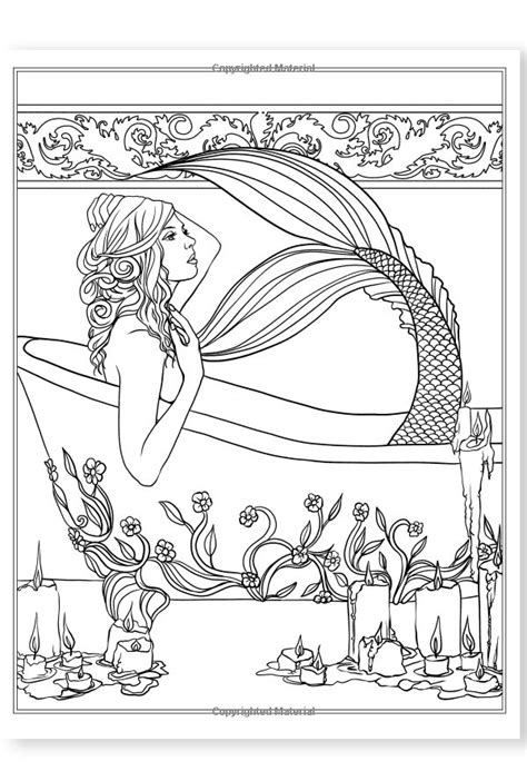 mermaid in dress coloring book books books mermaids calm coloring book
