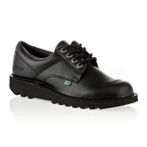 Kickers Shoes Original kickers kickers kick lo m leather black opp c kf0000106 mens shoes kickers from