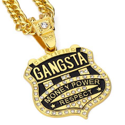 aliexpress buy 2pcs lot gangsta pendant necklace