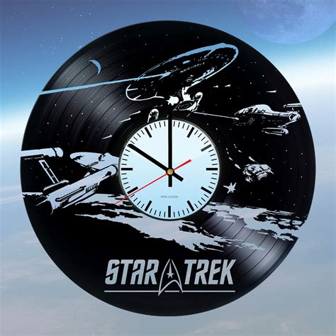 gifts for star trek fans star trek handmade vinyl record wall clock fan gift