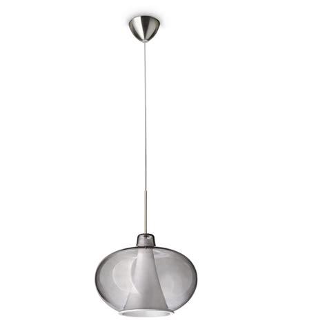pendelleuchten modern moderne pendelleuchte 1 flammig rauchglas wohnlicht