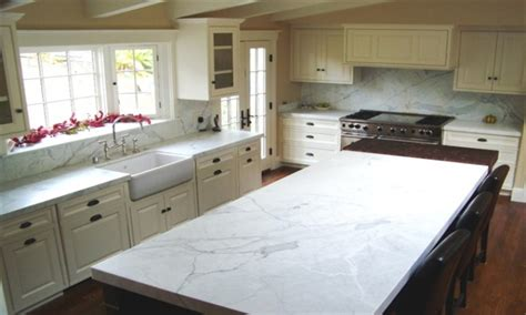 Free Kitchen Island by High End Tubs White Quartz Countertops Statuary Marble