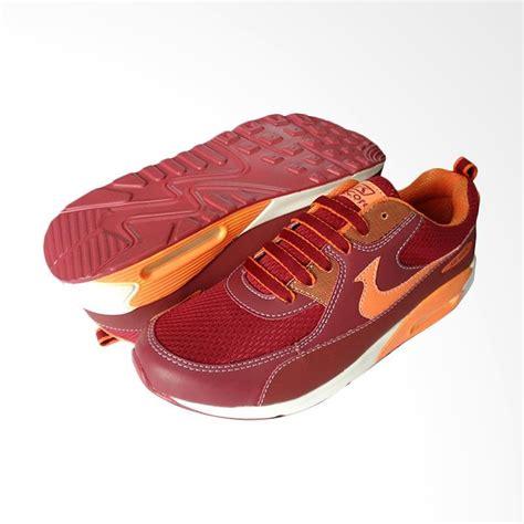 jual recordshoes airwalk sepatu sneaker pria maroon