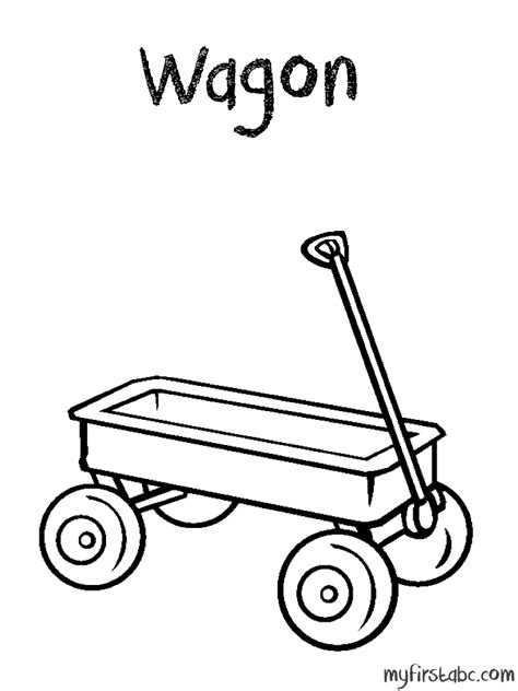 wagon coloring page az coloring pages
