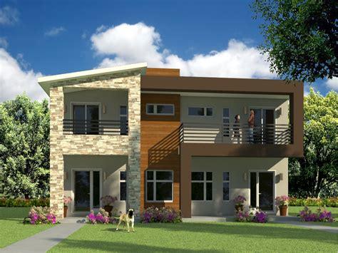 Modern Duplex Plans by Modern Duplex House Design Philippines Studio Design