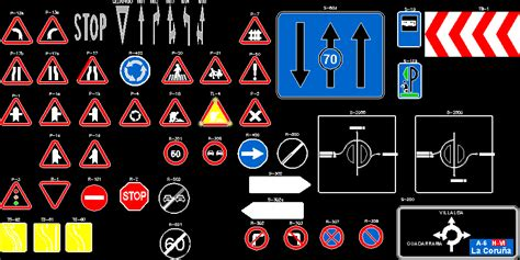 traffic signs  dwg block  autocad designs cad