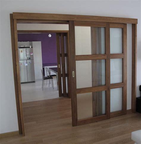 porte scorrevoli legno e vetro porte scorrevoli esterne in legno massello e vetro