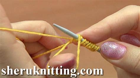 Elastic Stretchy Cast On For Ribbing Tutorial 1 Method 6