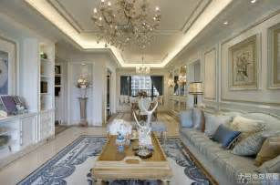 European style luxury renovated house living room interior design