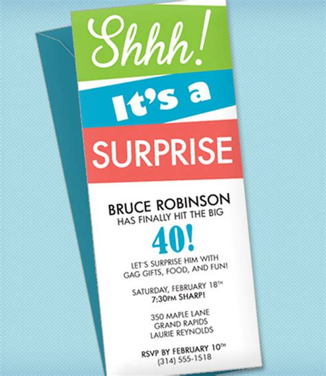 surprise party invitation template download print
