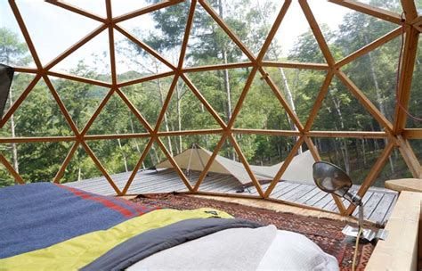 glass dome room mountain cottage in ogawayama japan