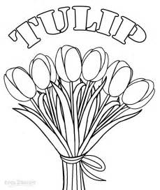 tulip coloring pages printable tulip coloring pages for cool2bkids