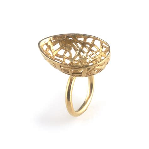 best before 3cm gold plated silver egg ring day c