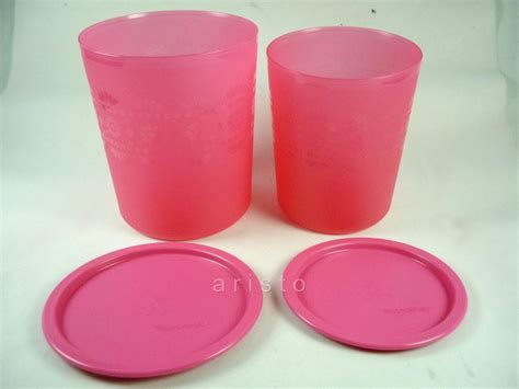 Tupperware Mosaic Canister new tupperware pink mosaic canister set 1 9l 2 8l