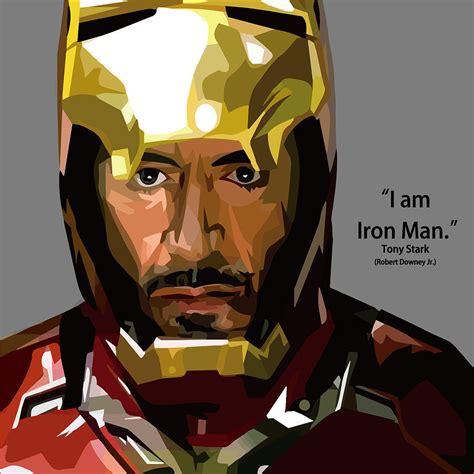 Iron Is Tony Stark iron tony stark artwork