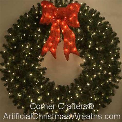60 inch lighted christmas wreath cornercrafters com