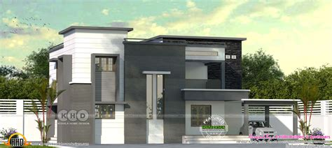 2925 square feet flat roof home kerala home design and 2570 square foot flat roof house plan kerala home design