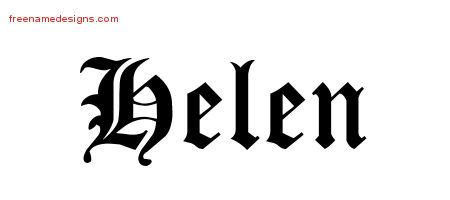 tattoo name helen blackletter name tattoo designs helen graphic download