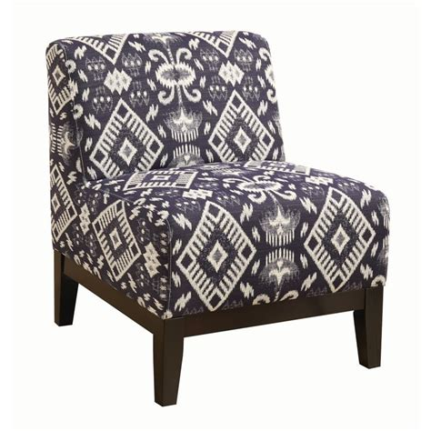 Blue And Brown Accent Chair Coaster Upholstered Accent Chair In Blue And Brown 902926
