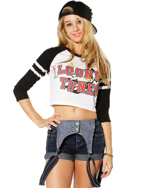 Looney Tunes Blouse Black T3009 3 looney tunes graphic crop top shop lounge at papaya clothing