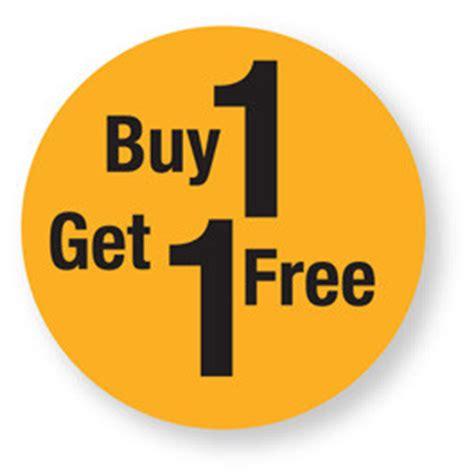 Buy 1 Get 1 stock labels gt retail labels gt discount buy 1 get 1 free labels