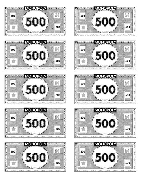 printable monopoly money template best photos of monopoly money template printable