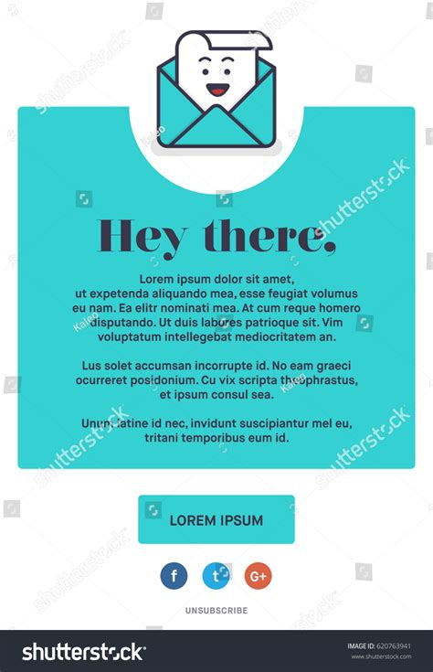 Beautiful Colourful Emailer Template Design Newsletter Stock Vector 620763941 Shutterstock Illustrator Email Template