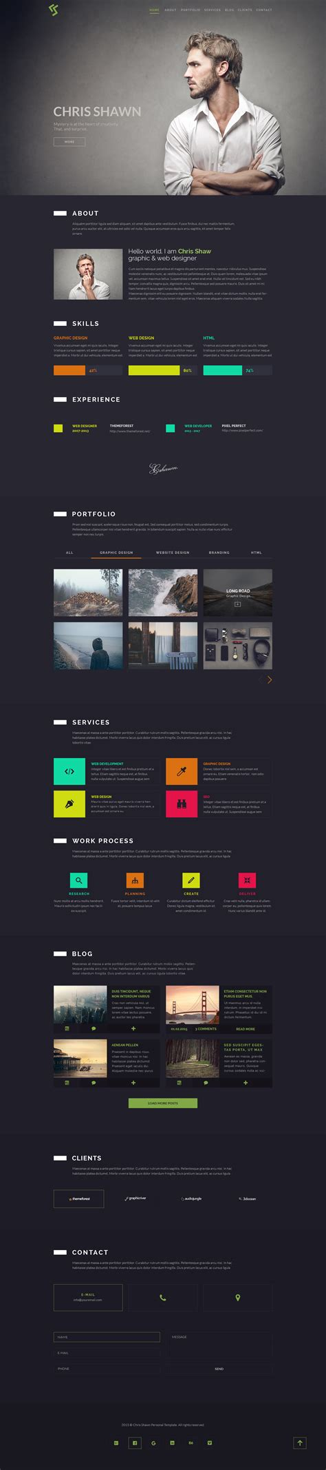 web page layout design rules chris shawn one page psd template by agonmustafa
