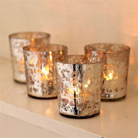 three glass votive tea antique vintage light holders by antique effect t light holders set of four by paper high