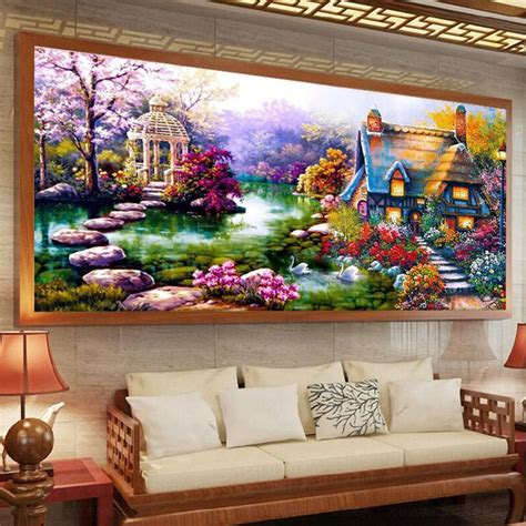 garden decoration aliexpress buy beadwork diy 5d embroidery paintings