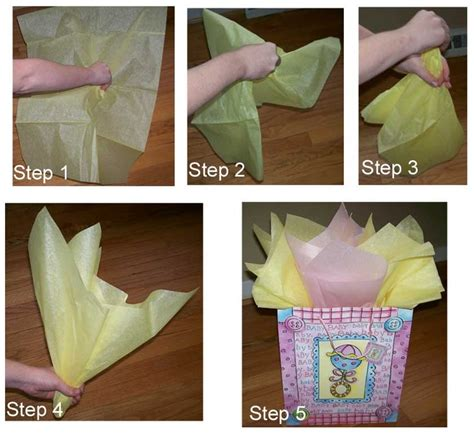 How To Make Bows With Tissue Paper - how to place tissue paper in a gift bag and make it look