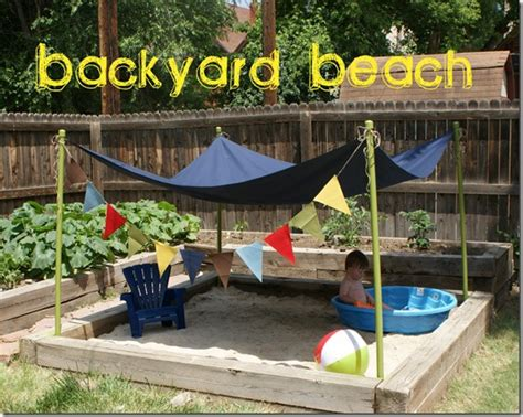 build a sandpit in your backyard make your own diy sand box for summer