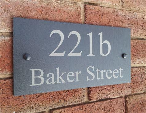 Door Plaques by Personalised Slate House Door Gate Number Sign