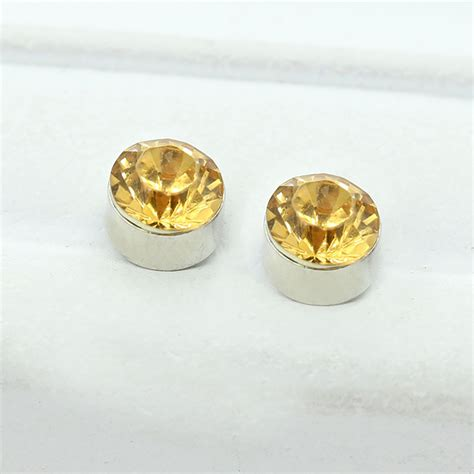 pair non piercing clip on magnetic magnet ear stud mens