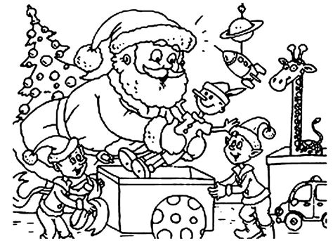 coloring pictures of santa workshop coloring pages santas workshop coloring pages elves