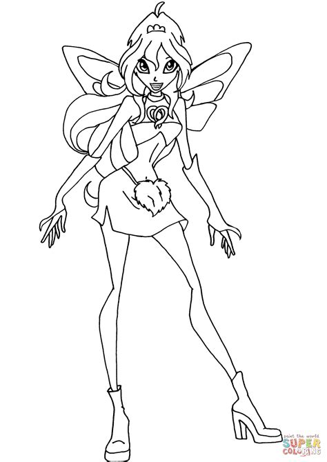 Winx Club Bloom Coloring Pages bloom charmix coloring page free printable coloring pages